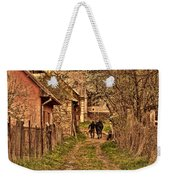 Man With A Horse Weekender Tote Bag
