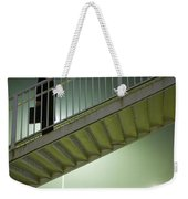 Man With Case On Steps Nighttime Weekender Tote Bag