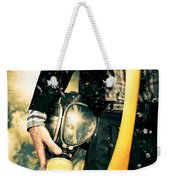 Man With Gas Mask. New Beginning. Skys The Limit Weekender Tote Bag