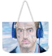 Man With Headphones Weekender Tote Bag