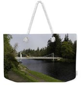 Man With Kayak Crossing Over Small Bridge From Ness Islands Weekender Tote Bag