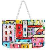 Manarola Colorful Houses Painting Detail Weekender Tote Bag