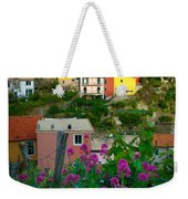 Manarola Flowers And Houses Weekender Tote Bag