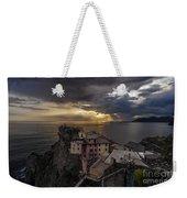 Manarola Sunset Storm Weekender Tote Bag