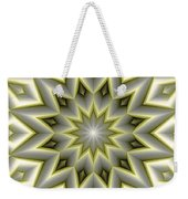 Mandala 107 Yellow Weekender Tote Bag