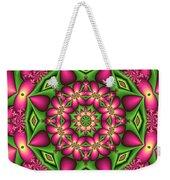 Mandala Green And Pink Weekender Tote Bag