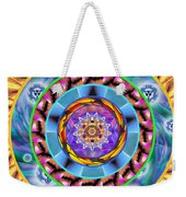 Mandala Wormhole 101 Weekender Tote Bag by Derek Gedney