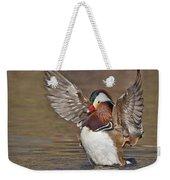 Mandarin Duck Flapping Away Weekender Tote Bag