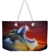 Mandrill Roaring At The End Of A Day  Weekender Tote Bag