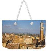 Mangia Tower Piazzo Del Campo  Siena  Weekender Tote Bag