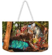 Mangled Whistler Train Wreck Box Car Weekender Tote Bag