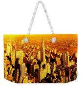 Manhattan And Chrysler Building Weekender Tote Bag