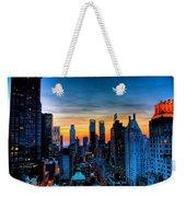 Manhattan At Sunset Weekender Tote Bag