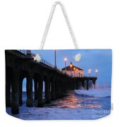 Manhattan Beach Pier Crashing Surf Weekender Tote Bag