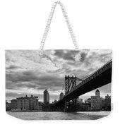 Manhattan Bridge In Bw Weekender Tote Bag