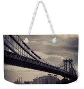 Manhattan Bridge In Ny Weekender Tote Bag