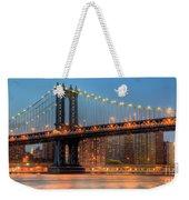 Manhattan Bridge Panoramic Weekender Tote Bag