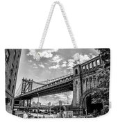 Manhattan Bridge - Pike And Cherry Streets Weekender Tote Bag