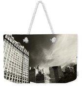 Manhattan Contrast Weekender Tote Bag