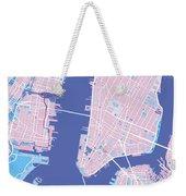 Manhattan Map Graphic Weekender Tote Bag