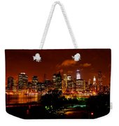 Manhattan Night Skyline Weekender Tote Bag