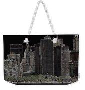 Manhattan Skyline Abstract Weekender Tote Bag