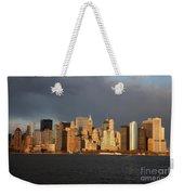Manhattan Skyline At Sunset Weekender Tote Bag