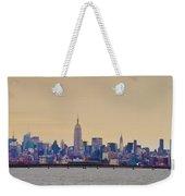 Manhattan Skyline Weekender Tote Bag