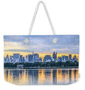 Manhattan Skyline From Central Park Reservoir Nyc Usa Weekender Tote Bag