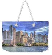 Manhattan Skyline From Hudson River Weekender Tote Bag by Juli Scalzi