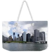 Manhattan Skyline From The Hudson River Weekender Tote Bag