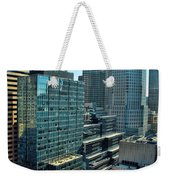 Manhattan Skyscrapers Labyrinth Weekender Tote Bag