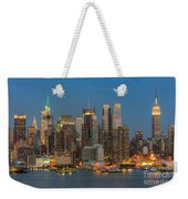 Manhattan Twilight IIi Weekender Tote Bag by Clarence Holmes