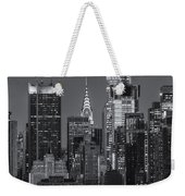 Manhattan Twilight Ix Weekender Tote Bag by Clarence Holmes