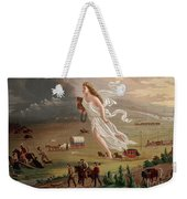 Manifest Destiny 1873 Weekender Tote Bag by Photo Researchers