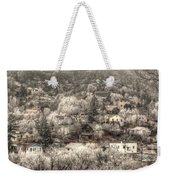 Manitou To The South In Snow Close Up Weekender Tote Bag