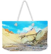 Manly Beacon From Golden Canyon In Death Valley National Park-california Weekender Tote Bag