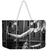 Mannequin In Storefront Shop Window In Black And White Weekender Tote Bag