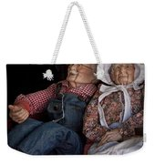 Mannequin Old Couple In Shop Window Display Color Photo Weekender Tote Bag