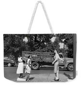 Mannequin Talks Traffic Safety Weekender Tote Bag
