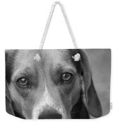 Man's Best Friend In Black And White Weekender Tote Bag