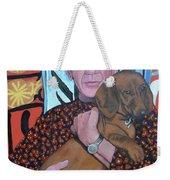Man's Best Friend Weekender Tote Bag by Tom Roderick