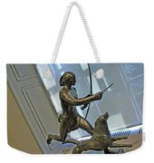Manship's Indian Running With Dog Weekender Tote Bag