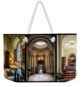 Mansion Hallway Triptych Weekender Tote Bag by Adrian Evans