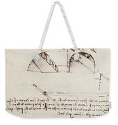 Manuscript B F 36 R Architectural Studies Development And Sections Of Buildings In City With Raise Weekender Tote Bag