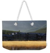 Many Glacier Hotel Sunrise Panorama Weekender Tote Bag