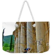Many Photographers At Library Of Celsus-ephesus Weekender Tote Bag