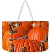 Many Pumpkins In A Row Art Prints Weekender Tote Bag