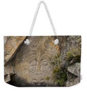 Maori Rock Carving Weekender Tote Bag