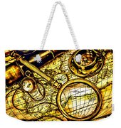 Map And Compass Weekender Tote Bag